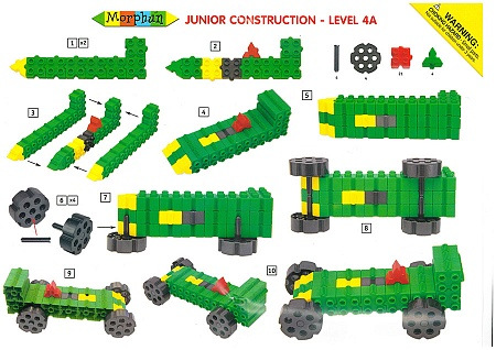 Конструктор Morphun Машины Экстра Junior Xtra 10 Vehicles Set