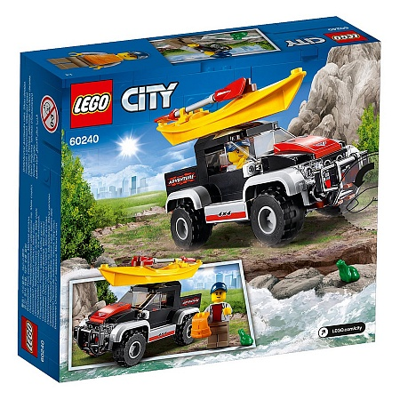 Конструктор LEGO 60219 City Great Vehicles Сплав на байдарке